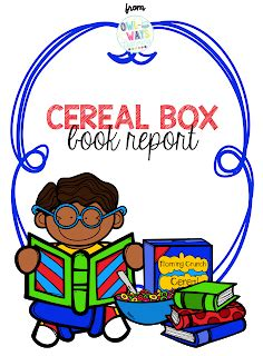 Book report using a cereal box